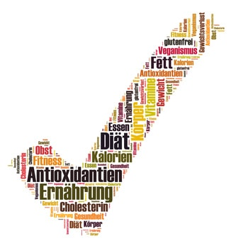 antioxidantien wordcloud